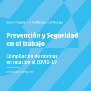 Tapa de la compilación de normas sobre prevención de riesgos del trabajo