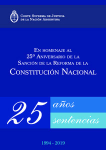 25 años de sentencias CSJN